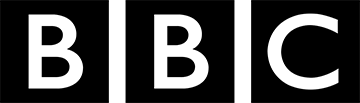 black BBC logo